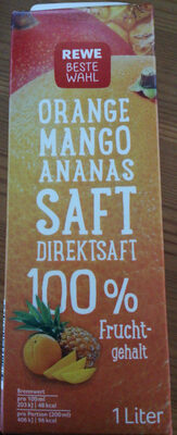 Orange Mango Ananas Saft - Produit - de