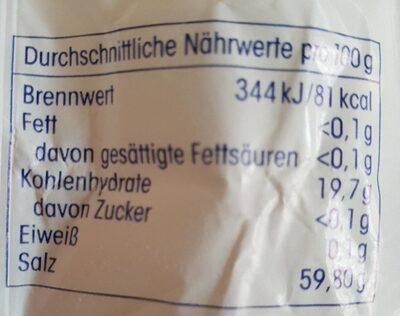 Backpulver - Valori nutrizionali - de
