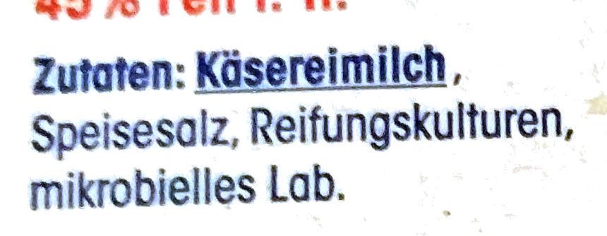 Käse-Aufschnitt - Ingredients