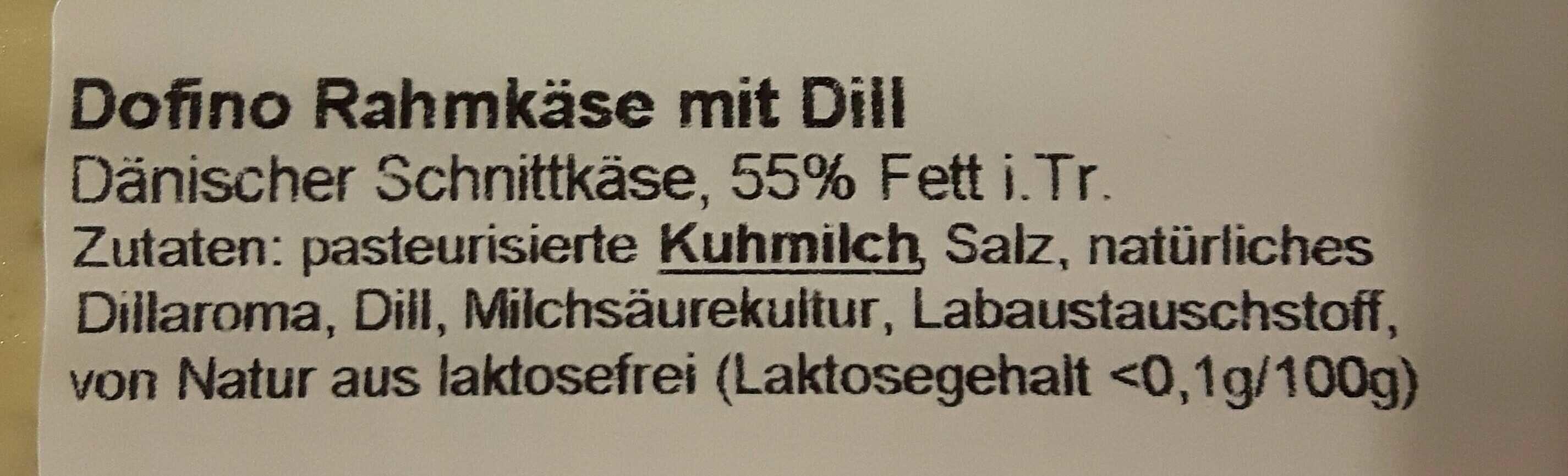 Dofino Rahmkäse mit Dill - Ingredients - en