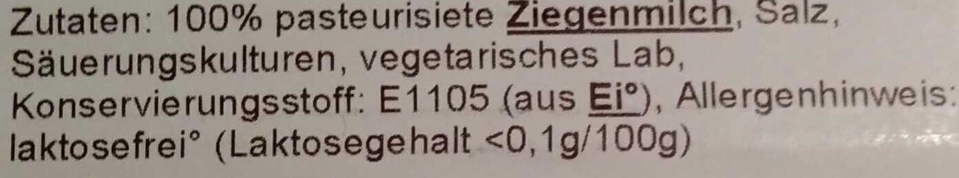 Belle Blanche Ziegenkäse mild - Ingrediënten