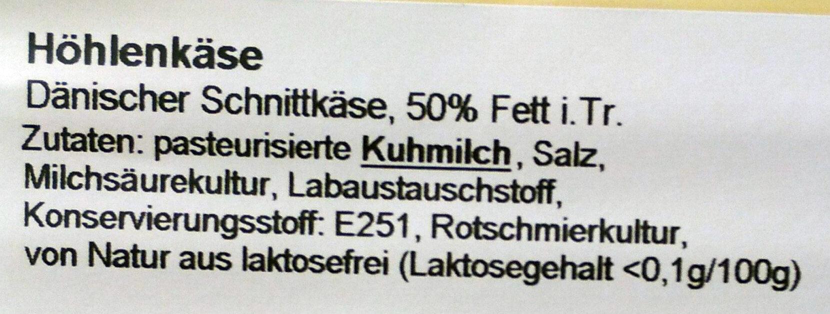 Höhlenkäse kräftig - Ingredients