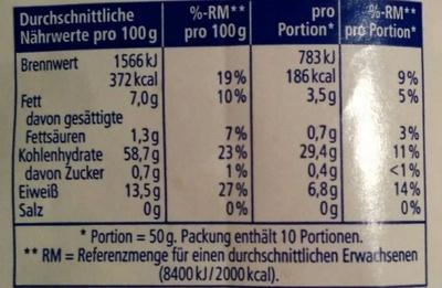 Kernige Haferflocken - Nutrition facts