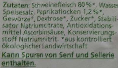 Paprika-Lyoner - Ingrediënten - de
