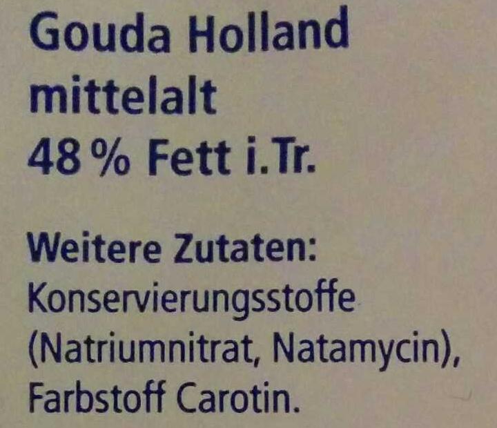 Gouda Holland - Ingrediënten - de