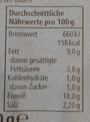 Bierschinken - Voedingswaarden - de