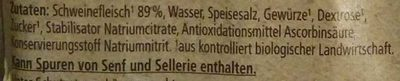 Jagdwurst - Zutaten - de