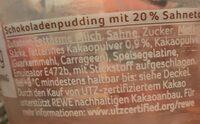Schoko Pudding - Ingrediënten - de