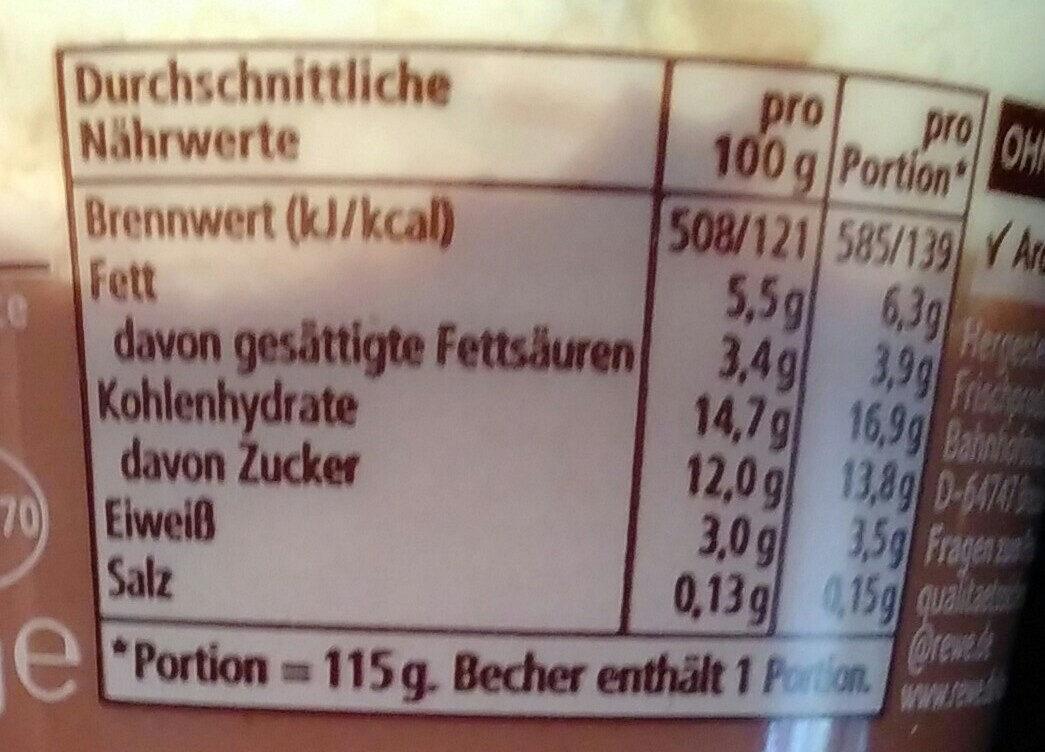 Schoko Pudding - Voedingswaarden - de