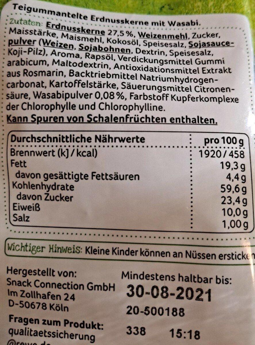 Erdnüsse Wasabi Style - Nutrition facts - fr