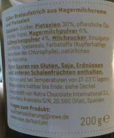Pistazien Creme - Ingredients