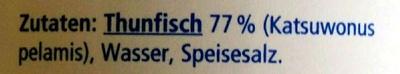 Thunfisch-Filet - Inhaltsstoffe
