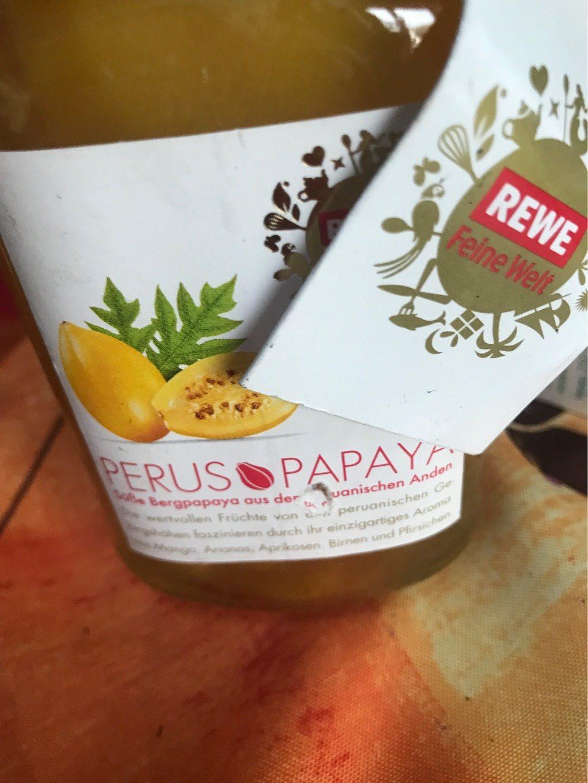 Perus Papaya Rewe Feine Welt - Nährwertangaben