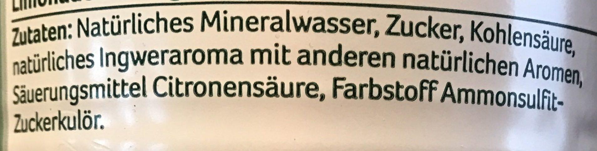 Ginger Ale - Ingredients - de