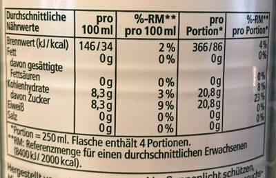 Ginger Ale - Nutrition facts - de