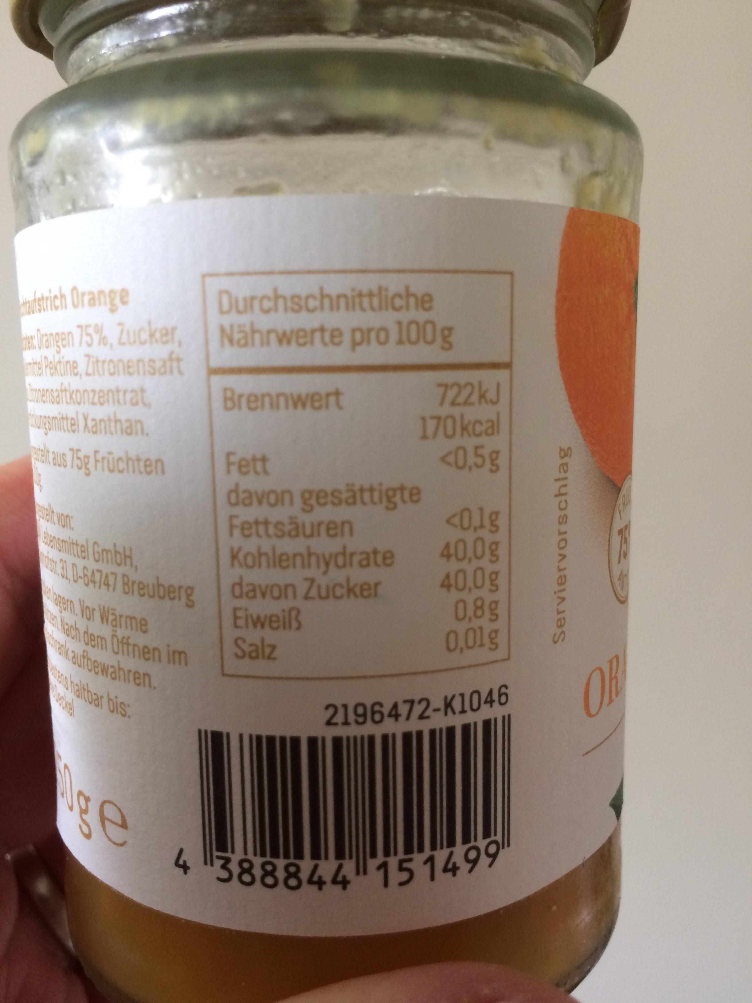 REWE - Orange aus Sevilla - Voedigswaarden