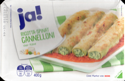 Ricotta-Spinat Cannelloni - Product