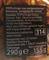 Pfifferlinge - Ingrédients