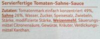 Pasta Sauce Tomate Sahne - Ingrédients - de
