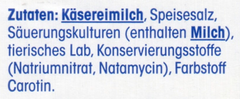 Gouda Holland Mittelalt - Ingrediënten - de