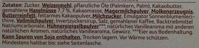 Schoko Waffeln Vollmilch - Ingredients