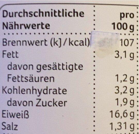 Rinder Gulasch - Nährwertangaben - fr