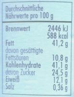 Cashew Creme - Informations nutritionnelles