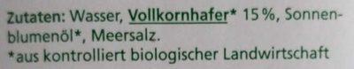 Haferdrink - Ingredients