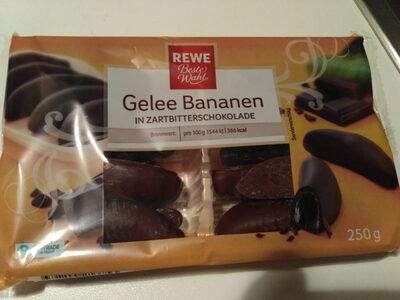 Gelee Bananen in Zartbitterschokolade - Product