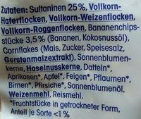 Früchtemüsli (32% Fruchtanteil) - Ingredients - de