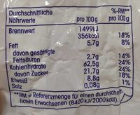 Früchtemüsli (32% Fruchtanteil) - Nutrition facts - de
