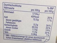 Schokomüsli - Nutrition facts - de