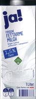 Ja! Frische Fettarme Milch 1,5% Fett 1L - Produkt - de