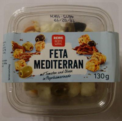 Feta Mediterran mit Tomaten und Oliven in Paprikamarinade - Produkt