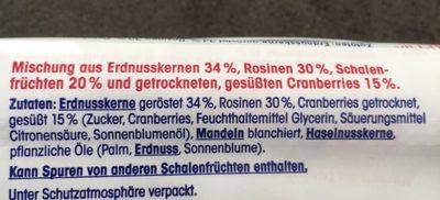 Nuss frucht mix - Ingredients - de