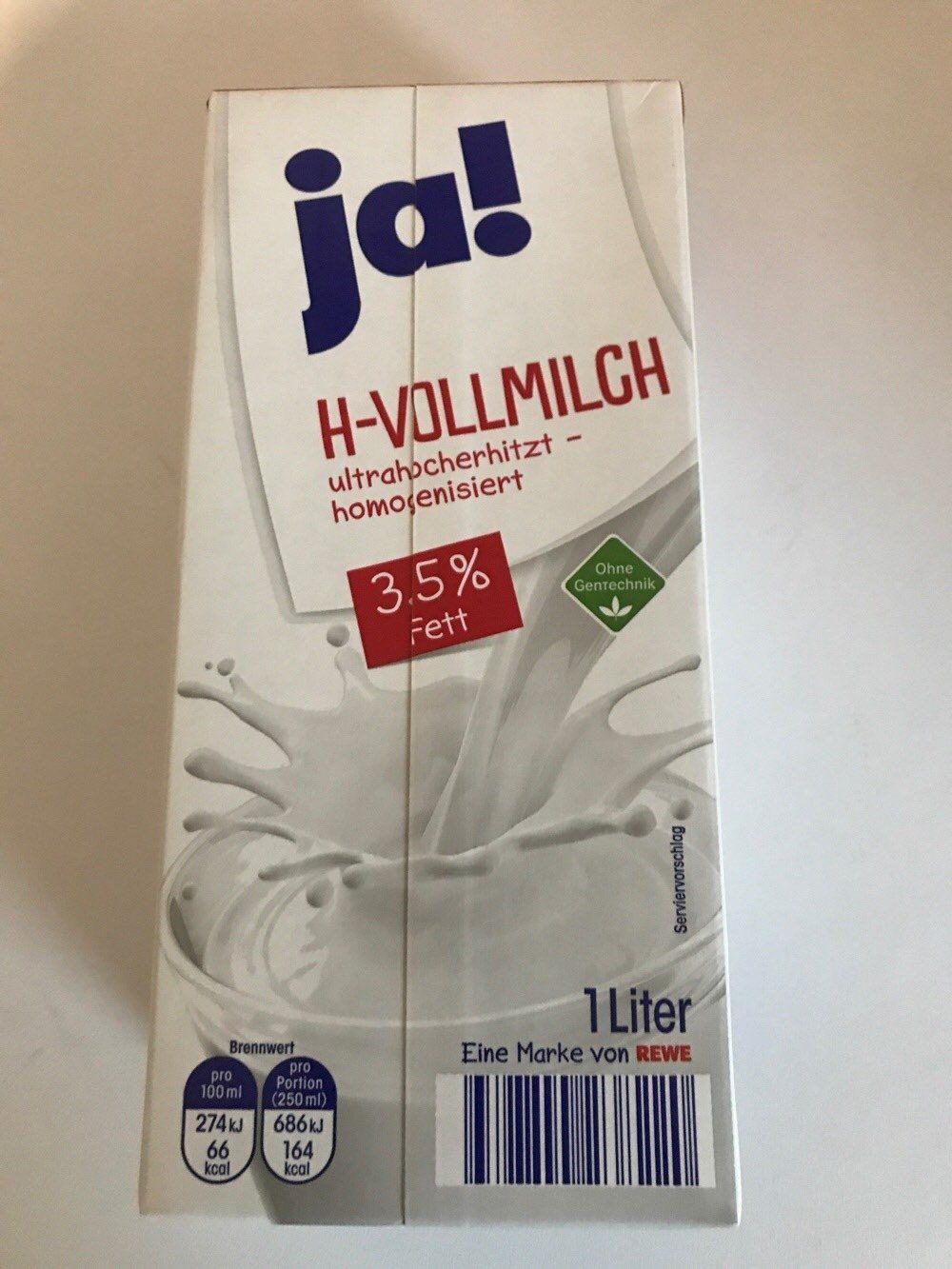 H-Milch 3,5% Fett Ja - Product - de