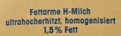 (V) Fettarme H-Milch - Inhaltsstoffe