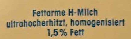 (V) Fettarme H-Milch - Ingrédients - de
