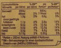 (V) Fettarme H-Milch - Informations nutritionnelles - de