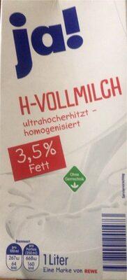 H - Vollmilch - Produkt