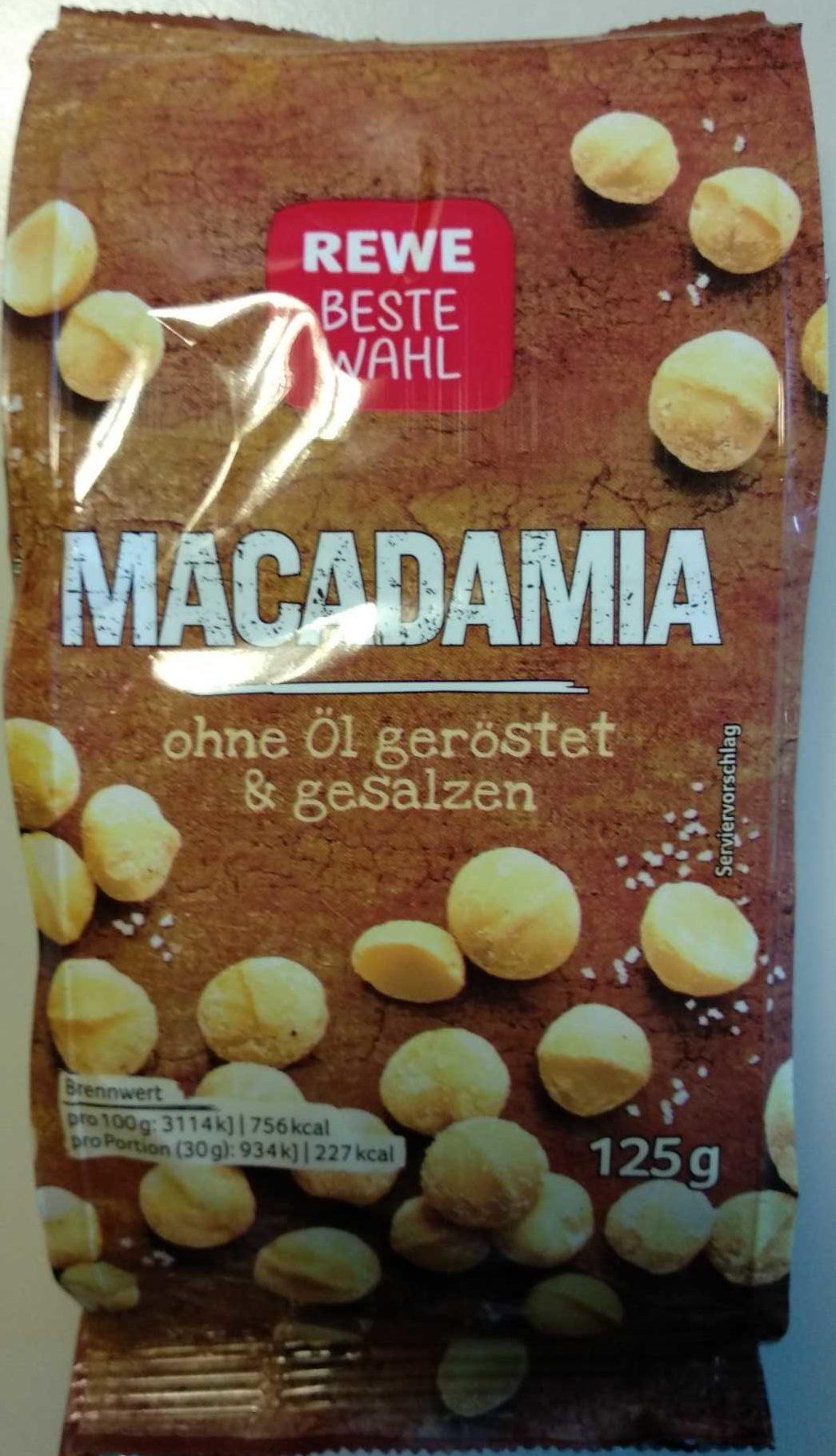 Macadamia ohne Öl geröstet & gesalzen - Produit - de