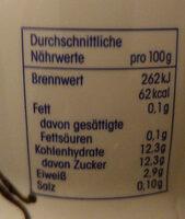 Joghurt-Drink Vanille - Nutrition facts - de