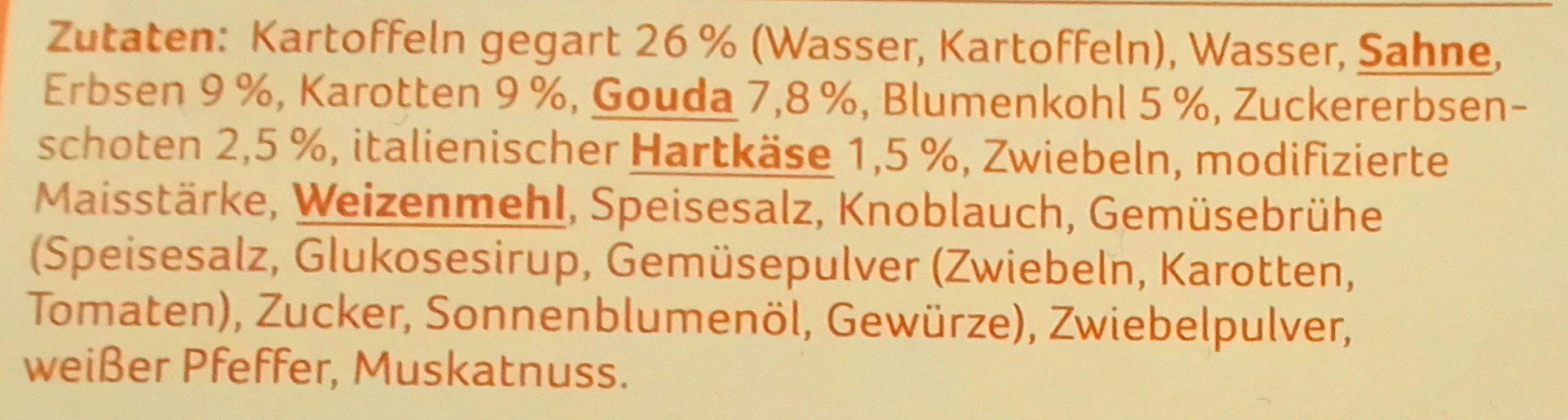 Gemüse Kartoffel Auflauf - Ingrédients - de