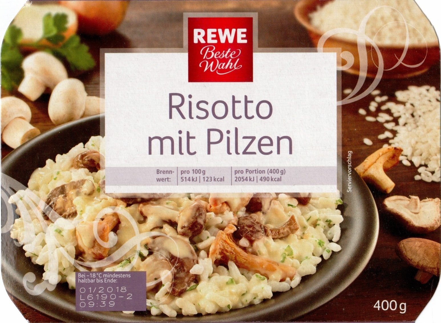 risotto mit pilzen rewe beste wahl 400g. Black Bedroom Furniture Sets. Home Design Ideas
