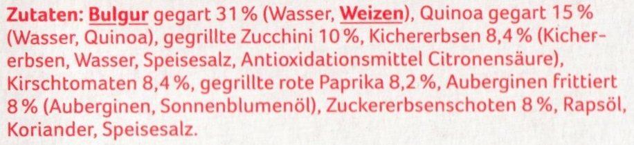 Quinoa mit Gemüse - Ingrédients