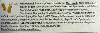 Steinofen-Pizza POLLO - Zutaten - de