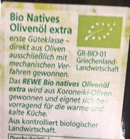 Natives Olivenöl extra - Ingrédients - fr