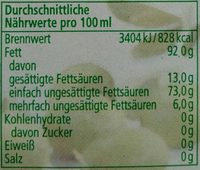 Natives Olivenöl extra - Informations nutritionnelles