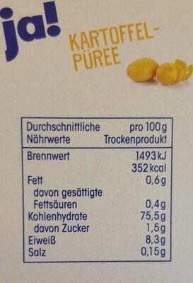 Kartoffel Purée - Nutrition facts - de