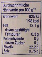 Thunfish-filets - Nährwertangaben - de
